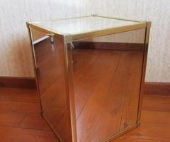 Table basse miroir dorée vendu