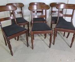 Suite de 6 chaises de style restauration en acajou , vendu