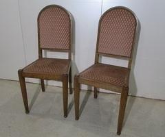 Paire de chaises art déco en noyer , vendu
