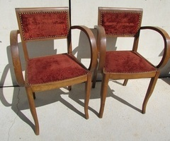 Paire de fauteuils bridge vintage , vendu