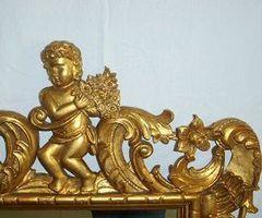 Miroir, bois sculpté doré : PROMO 650 €