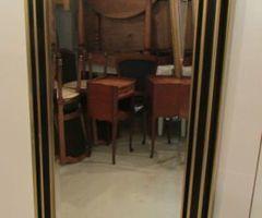 Miroir rectangulaire or et noir , réservé