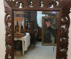Miroir bois sculpté ajouré ,vendu