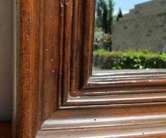 Petit miroir en résine , imitation bois