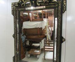 Superbe miroir d'époque Napoléon III, bambins, vendu