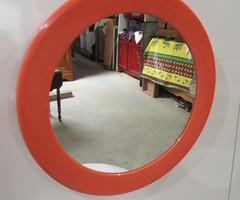 Miroir rond orange Seventies , L'Ame Du Meuble Ancien