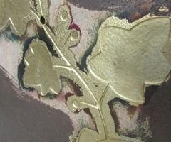 Miroir trapézoïdal, décor de lierres