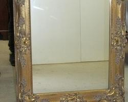 Miroir en bois doré shabby romantique , ajouré , réservé