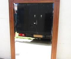 Grand et authentique miroir Art déco en chêne , vendu