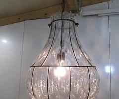 Lanterne vénitienne en verre soufflé, à facettes , vendu