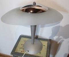 Lampe champignon Vintage, alu, verre et inox