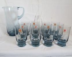 Lot de 12 verres et sa carafe Vallerysthal