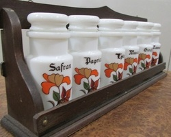 Etagère pots à épices Vintage