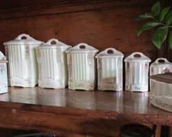 Pots à épices, blancs nacrés