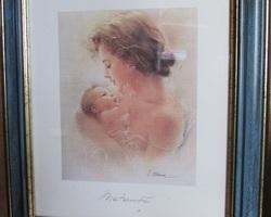 """Paire de cadres représentant """" la maternité """""""