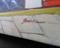 Peinture à l'huile : 173 Le Pêcheur Argenté : 22 x 27 cm