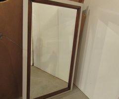 Miroir contemporain bois ,vendu