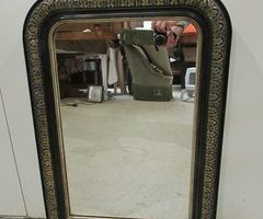 Petit miroir Napoléon III en bois noirci ,vendu