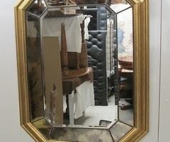 Miroir contemporain octogonal ,vendu