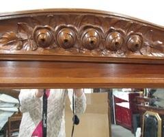 Grand miroir Art déco en bois : Roses ,vendu