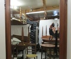 Grand miroir art déco en acajou ,vendu