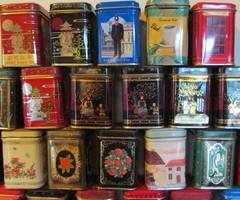 Collection de boites à thé en metal ,vendu
