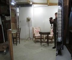 Très grand miroir, mural rainuré ,vendu