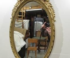 Miroir ovale de style Louis XVI | 4 ,vendu