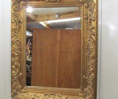 Beau miroir bois et stuc doré ,vendu