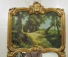Petit trumeau de style Louis XV, bois doré ,vendu