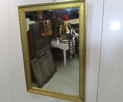 Miroir rectangulaire doré ,vendu