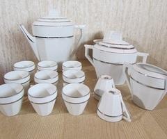 Superbe service à café en porcelaine fine art deco ,vendu