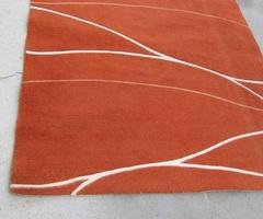 Petit tapis contemporain orange