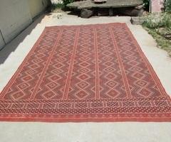 Très grand tapis kilim berbère marocain en laine : 195 x 290 cm ; vendu
