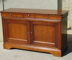 Buffet de style Louis Philippe, 2 portes, 3 tiroirs , Grange, vendu