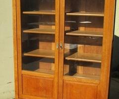 Bibliothèque 2 portes vitrées, en chêne clair