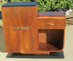 Buffet art déco en palissandre , bar ou meuble télé , Vendu