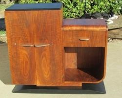 Buffet art déco en palissandre , bar ou meuble télé