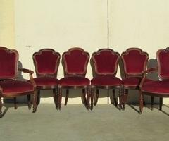 4 chaises et deux fauteuils Napoléon III ,vendu