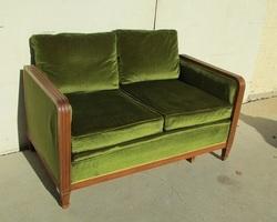 Canapé-lit , banquette art déco, rétro, divan étirable