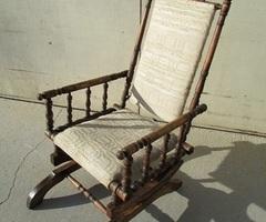 Chaise berceuse , fauteuil à bascule , rocking chair , vendue