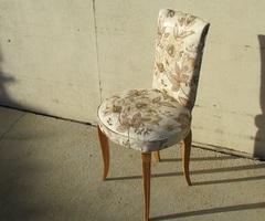 Elégante chaise vintage des années 30, restylisée, vendue