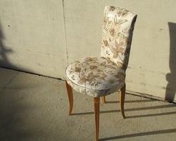 Elégante chaise vintage des années 30, restylisée