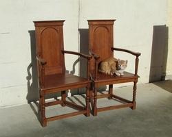 Exceptionnel : Paire de fauteuils en talmouse , chayères