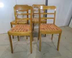 Lot de 4 chaises des années 50 ,Monobloc