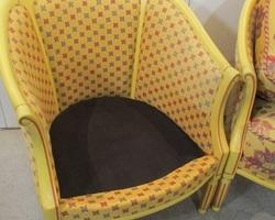 Paire de fauteuils bergères, chauffeuses, forme corbeille , PROMO: 280 €