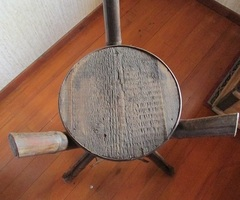 Sellette Napoléon III, en bambou, japonisant