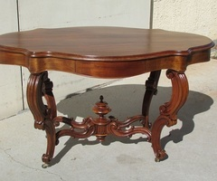 Superbe table violon, Napoléon III en acajou vendue