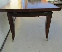 Table art-déco en palissandre , jusqu'à 12 personnes , vendue