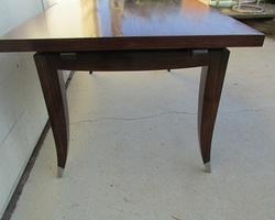 Table art-déco en palissandre , jusqu'à 12 personnes